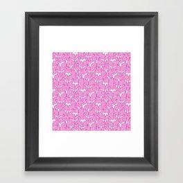 Vibrant Pink Cranes Framed Art Print