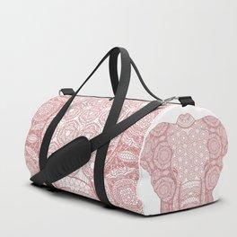 Pink mandala elephant Duffle Bag
