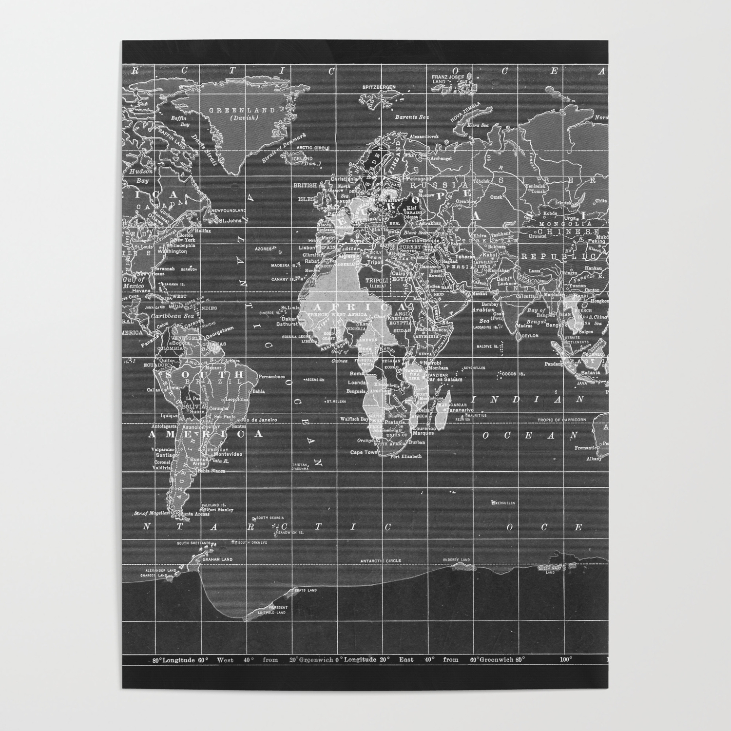 Black and White Vintage World Map Poster by catherineholcombe on italy vintage poster, travel vintage poster, blue vintage poster, popular vintage poster, cambodia vintage poster, water vintage poster, switzerland vintage poster, architecture vintage poster, austria vintage poster, usa vintage poster, wallpapers vintage poster, japan vintage poster, solar system vintage poster, egypt vintage poster, london vintage poster, hong kong vintage poster, atlas vintage poster, indonesia vintage poster, india vintage poster, spain vintage poster,