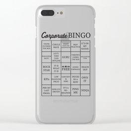 Corporate Jargon Buzzword Bingo Card Clear iPhone Case