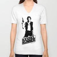 han solo V-neck T-shirts featuring Han Solo-Kessel Runner by IIIIHiveIIII