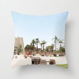 Temple of Luxor, no. 24 Throw Pillow