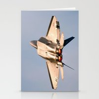 aviation Stationery Cards featuring Aviation F-22 Raptor Air Show USAF by Aviator
