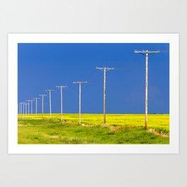 Wood Telephone Poles Canadian Prairies Art Print