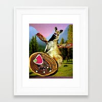 vegetarian Framed Art Prints featuring Vegetarian  by Stephie B