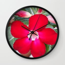 PERFECT RED Wall Clock