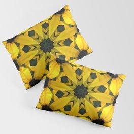 Black-eyed susan kaleidoscope, mandala Pillow Sham