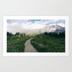 Mt Rainier Path Art Print