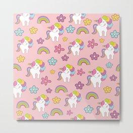 Cute unicorns Metal Print