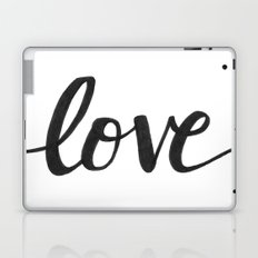 Love Black Laptop & iPad Skin