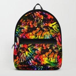 Vivid Psychedelic Hippy Tie Dye Backpack