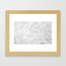 GRAY MARBLE Texture Framed Art Print