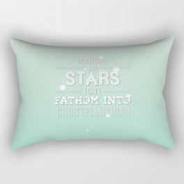 """My Thoughts Are Stars I Can't Fathom Into Constellations"" Rectangular Pillow"
