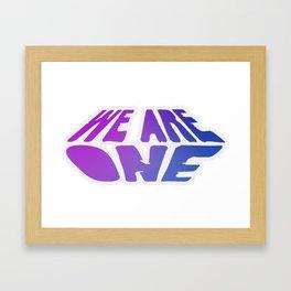 We Are One, violet Framed Art Print