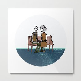 Companionship in the Park Metal Print