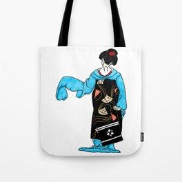 Dancing maiko - ink illustration Tote Bag