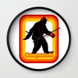 Retro Sasquatch Wall Clock