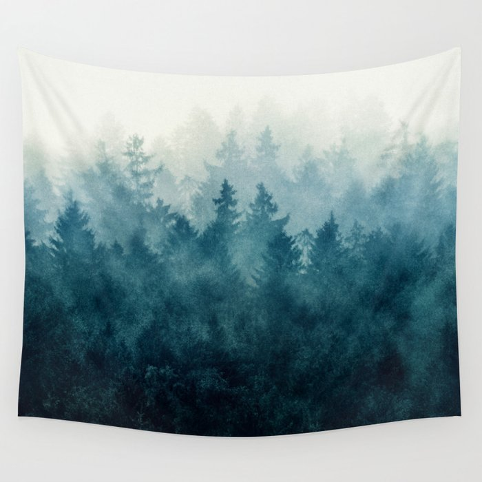 smoky trees wall tapestry for dorm room