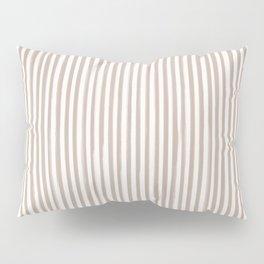 Skinny Stroke Vertical Nude on Off White Pillow Sham
