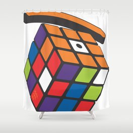 rubic eye Shower Curtain