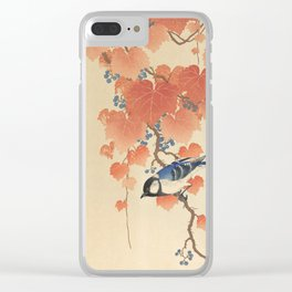 Ohara Koson - Japanese Bird Blockprint Clear iPhone Case