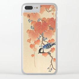 Ohara Koson - Japanese Bird Blockprint Clear iPhone Case