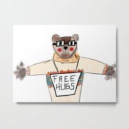Bear Hugs Metal Print