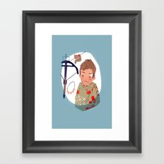 As you can not love a crossbow? Framed Art Print