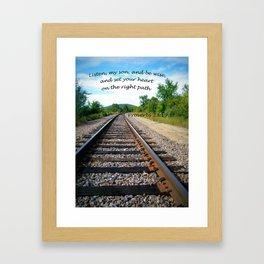 Proverbs 23:19 Framed Art Print