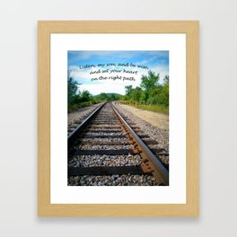 Proverbs 23:19 Framed Art Print