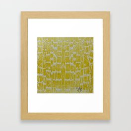Yellow Sugarcane Framed Art Print