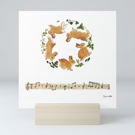 Bunny's footsteps Mini Art Print