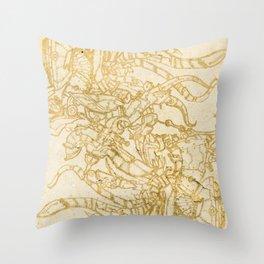 Doodle-Ish Three Throw Pillow