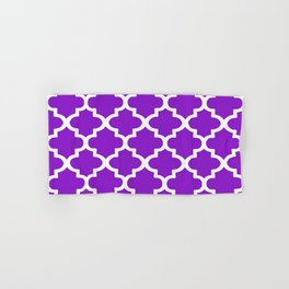 Arabesque Architecture Pattern In Purple Hand & Bath Towel