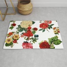 Keep it clean floral collage Rug