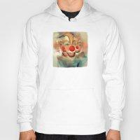 clown Hoodies featuring clown by robotrake