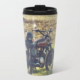 Moto guzzi, café racer, photo in south italy, man cave. Scrambler, fine art, motorcycle, motorbike Travel Mug