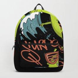 Surfosaurus T-Rex Surfer Kids Design Backpack