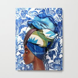 Turban lady Metal Print