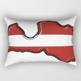 Latvia Map and Latvian Flag Rectangular Pillow