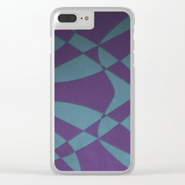 Wings and Sails - Purple and Light Blue Clear iPhone Case
