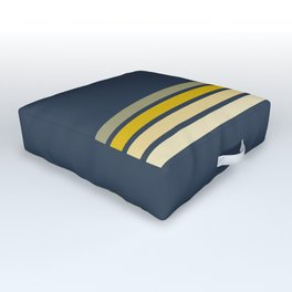 Racing Retro Stripes Outdoor Floor Cushion