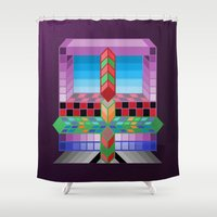 totem Shower Curtains featuring Totem by Turul