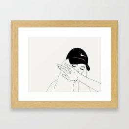 Dabbing Framed Art Print