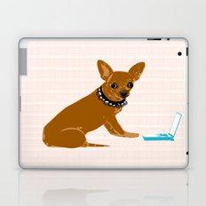 chihuahua dog as an IT technician Laptop & iPad Skin