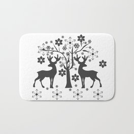 Christmas deer 1 Bath Mat