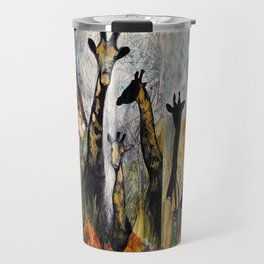 Collage with giraffes Travel Mug
