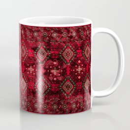 N129 - Epic Royal Red Oriental Traditional Moroccan Style Fabric Design  Coffee Mug