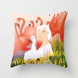 13 Flamencos Throw Pillow