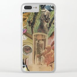 drained like the mountains Clear iPhone Case